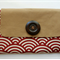 Large clutch / red and beige / natural and stylish / gift / bridesmaid / purse