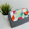 Large clutch / geometric / modern and stylish / gift / bridesmaid / nappy clutch
