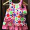 Colourful polka dot dress and matching handbag,kid's dress,child's dress