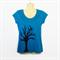 Blue Tree Applique T-shirt - ladies sizes 8 to 18 - cotton