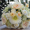 Silk wedding bouquet in shades of cream, champagne, apricot, peach - Mim