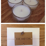 6 hand poured natural Soy tealight candle, 10 each - 60g total, approx. 4 hour b