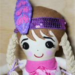 Little Miss Indian cloth doll