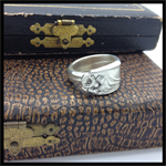 a silver spoon ring
