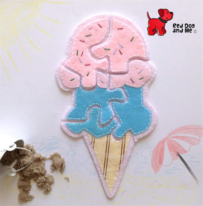 Easy pdf sewing pattern felt and fabric ice cream puzzle red dog easy pdf sewing pattern felt and fabric ice cream puzzle ccuart Image collections