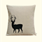 Cushion Cover, Pillow Cover, Throw Pillow -  Black Small Stag