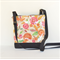 Canvas 'Jodi' bag med, colourful cotton with black canvas base and back
