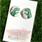T-Rex 23mm Fabric Button Earrings - Buy 3 get 4th FREE