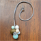 Mint Gold Frost resin ball necklace on adjustable suede cord