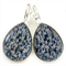 TEARDROP LEVER BACK EARRINGS- Shades of blue