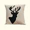 Cushion Cover, Pillow Cover, Throw Pillow -  Black Stag
