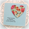 personalised birthday card vintage floral paper heart