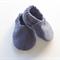 Blue Herringbone Print Baby Shoes