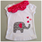 Elephant and hearts appliqué t-shirt and headband set - size 1