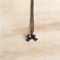 MINI BRONZE 3D BOW PENDANT NECKLACE - FREE SHIPPING WORLDWIDE