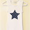 Star Print Star Shape Applique on a Singlet