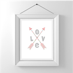 Nursery/Kids Room Wall Art Print - Tribal Love - Pink