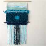 Hand woven wall hanging, tapestry, weaving - 'Celandine' by Tat