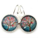 LEVER BACK EARRINGS- Whimsical tree