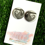 Sloth 23mm Fabric Button Earrings - Buy 3 get 4th FREE