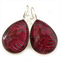 TEARDROP LEVER BACK EARRINGS- Waves of red