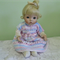 Pastel Pink ,Blue ,white Stripe Doll Dress for 30 cm -36 cm doll/Baby doll/knit