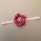 Knitted flower headband