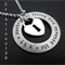 """Hand Stamped """"All Because Two People Fell In Love"""" Initials Necklace"""