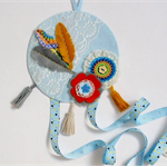 Blue Bohemian 'dream catcher' Hairclip organiser - hairbow headband holder