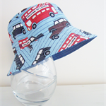 Boys summer hat in funky London fabrics