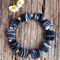 Black & White Swirl Lampwork Glass Bead Bracelet