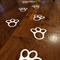 Easter Bunny Vinyl Footprints decorations for Easter