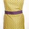 Yellow and grey apron
