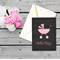 Hello Baby - Congratulations on your new baby new born - chalkboard baby pram