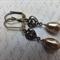 Swarovski Bronze Heart Earrings