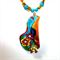 Wild colours, polymer clay necklace