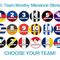 AFL TEAM Monthly milestone stickers, photo prop stickers