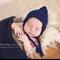 Gorgeous Textured Pixie Bonnet / Navy / Newborn Photography Prop / Baby Boy