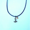 Silver anchor loveheart charm necklace