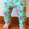 Aqua floral baby legging