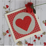 Red Heart Gift Card ~ Valentine's Day Card ~ Card for Lovers