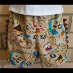 Boys Pirate Shorts Size 1