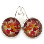 LEVER BACK EARRINGS- Autumn leaves