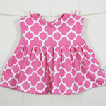 Baby top/tunic & matching nappy cover Size 000 - Pink quatrefoil - Ready to send