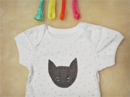 Cat Onesie // Baby Clothing   // Unisex Baby Clothes  CHOOSE WHISKER COLOUR!
