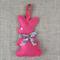 Lavender bunny, sachet, hot pink, rabbit, felt, Liberty bow