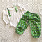 Boy's Green and Navy Star Long Pants Set - Size 00