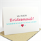 Will you be my bridesmaid? card - Pink and Blue, Love Heart and Arrows WED039