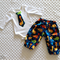 Boy's Dinosaur Long Pants and Bodysuit Set - Size 000