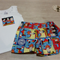 Baby Shorts Set - Shorts & Singlet - Made from Superman Fabric - Size 0